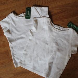 NWT L.L.Bean white shirt lot sz 12-18mos bundle